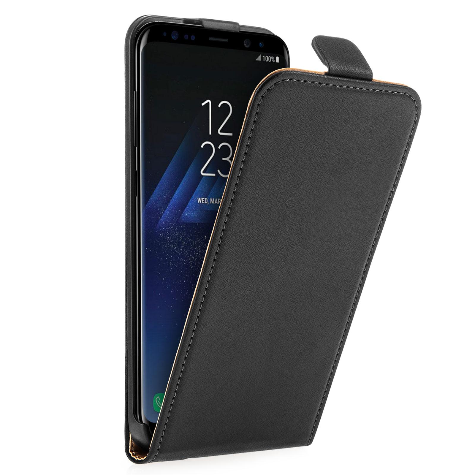 Caseflex Δερμάτινη Flip Θήκη Samsung Galaxy S8 - Black (SA-EA09-Z663)