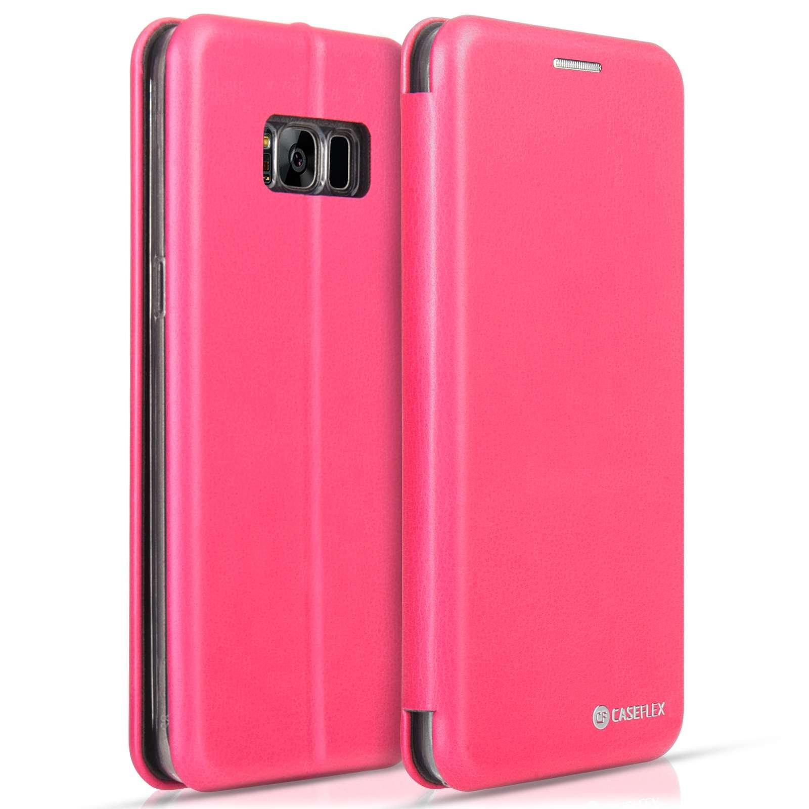Caseflex Θήκη - Πορτοφόλι Galaxy S8 Pink  (SA-EA09-Z637)