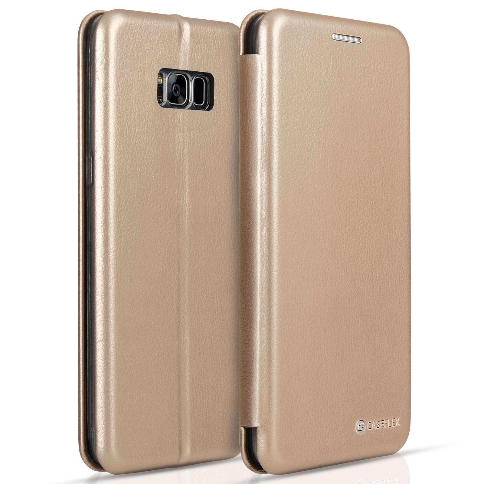 Caseflex Θήκη - Πορτοφόλι Samsung Galaxy S8 Plus - Gold (SA-EA09-Z643)