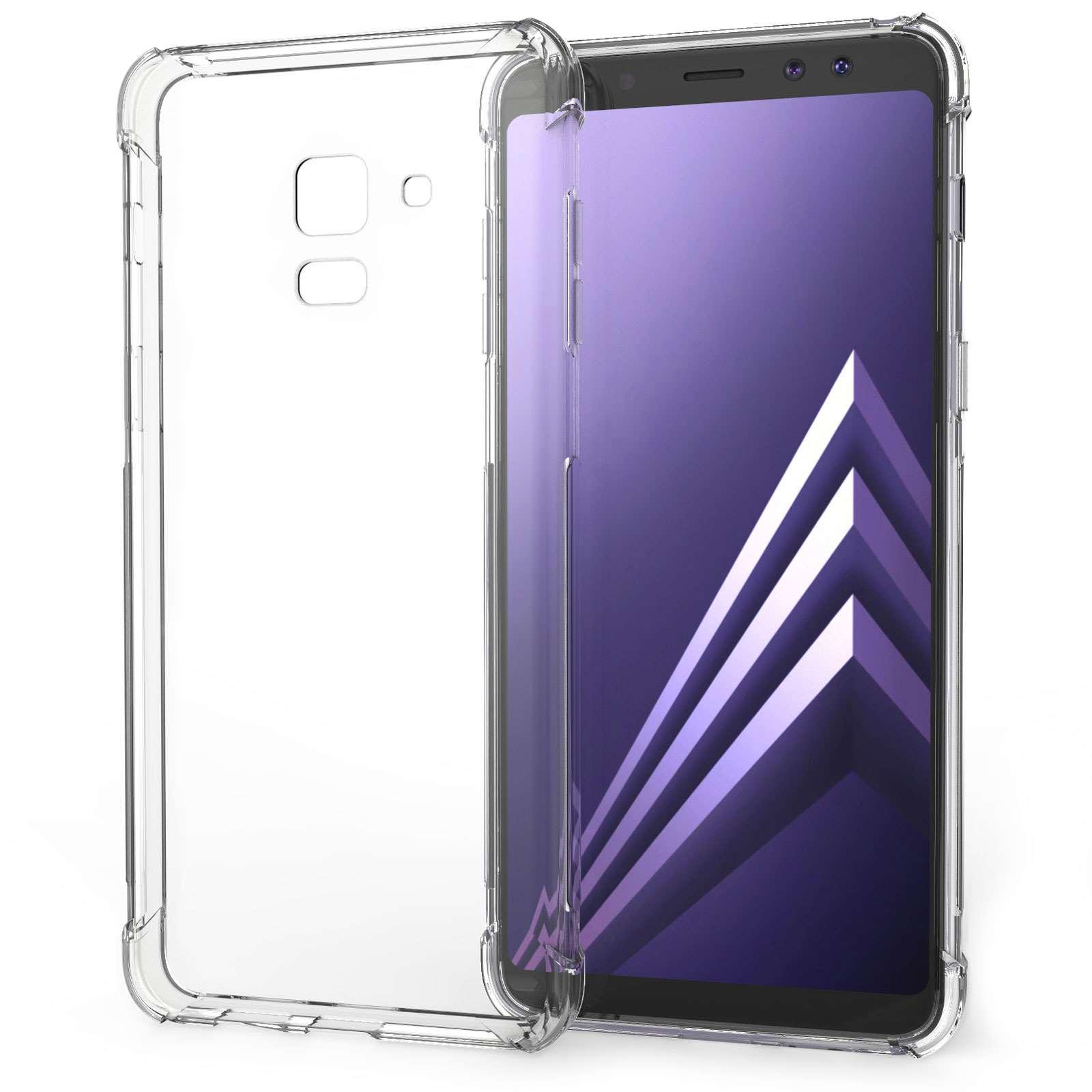 Caseflex Θήκη Σιλικόνης Samsung A8 Plus 2018 - Clear & Screen Protector (SA-EA10-Z321)
