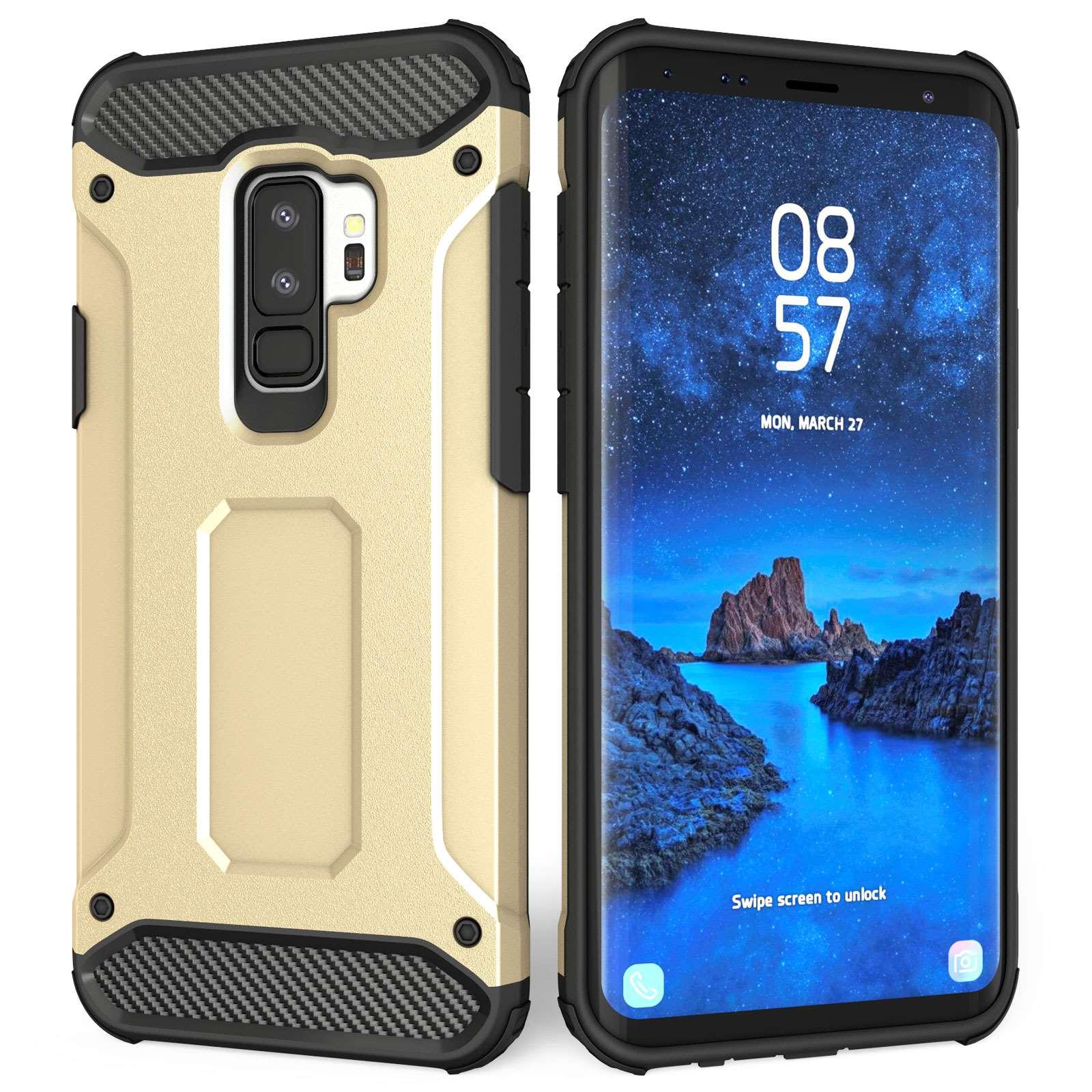 Caseflex Ανθεκτική Θήκη Armoured Shockproof Carbon Samsung Galaxy S9 Plus - Gold (SA-EA10-Z713)