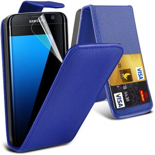 Flip Θήκη Samsung Galaxy S7 Edge - Μπλε (9750) - OEM