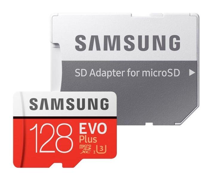 Samsung Κάρτα Μνήμης microSD EVO Plus 128GB Class 10 100MB/s UHS-I (MB-MC128GA)