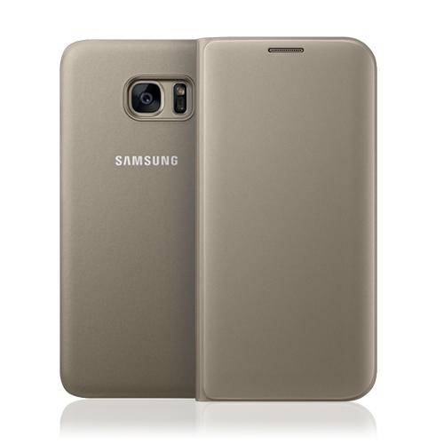 Samsung Official Flip Wallet - Θήκη Smart Wallet για Samsung Galaxy S7 - Gold (EF-WG930PFEGWW)
