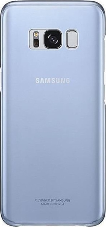 Samsung Official Ημιδιάφανη Σκληρή Θήκη Clear Cover Galaxy S8 - Blue (EF-QG950CLEGWW)