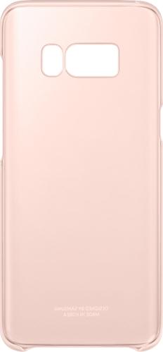 Samsung Official Ημιδιάφανη Σκληρή Θήκη Clear Cover Galaxy S8 - Pink (EF-QG950CPEGWW)