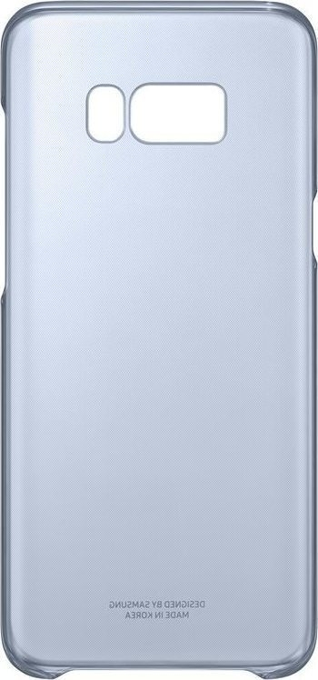 Samsung Official Ημιδιάφανη Σκληρή Θήκη Clear Cover Galaxy S8 Plus - Blue (EF-QG955CLEGWW)