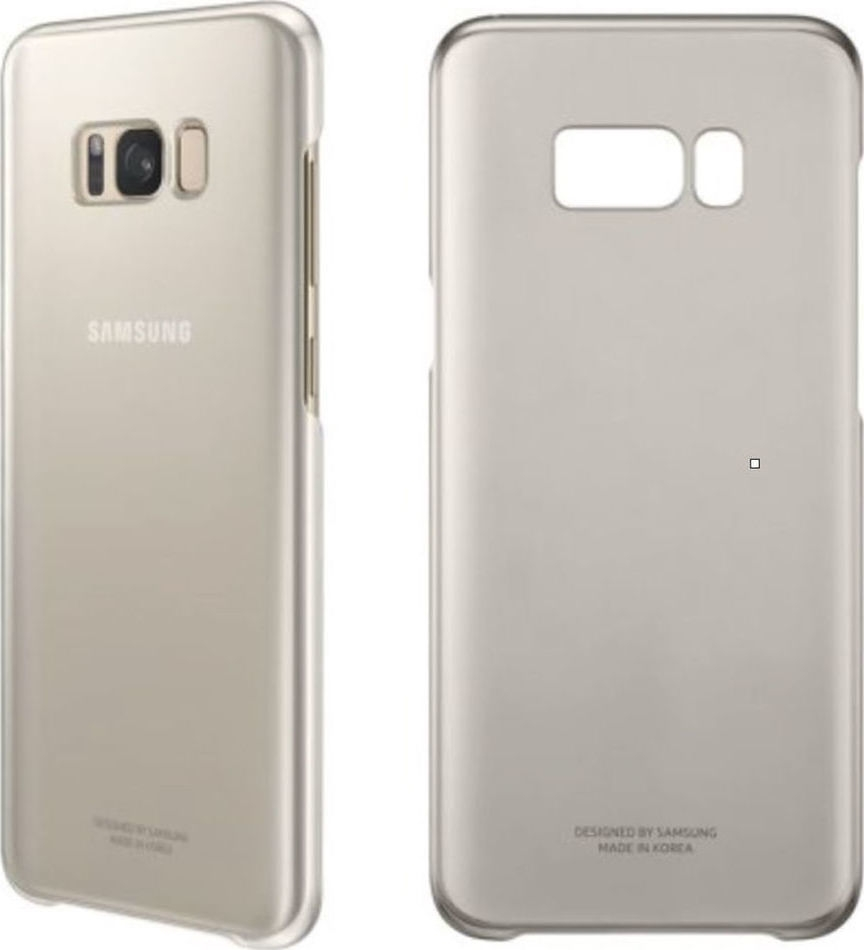 Samsung Official Ημιδιάφανη Σκληρή Θήκη Clear Cover Galaxy S8 Plus - Gold (EF-QG955CFEGWW)