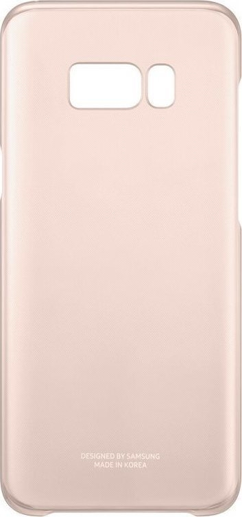 Samsung Official Ημιδιάφανη Σκληρή Θήκη Clear Cover Galaxy S8 Plus - Pink (EF-QG955CPEGWW)
