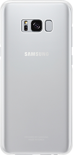 Samsung Official Ημιδιάφανη Σκληρή Θήκη Clear Cover Galaxy S8 Plus - Silver (EF-QG955CSEGWW)