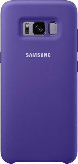 Samsung Official Silicon Cover - Silky and Soft-Touch Finish - Θήκη Σιλικόνης Samsung Galaxy S8 - Violet (EF-PG950TVEGWW)