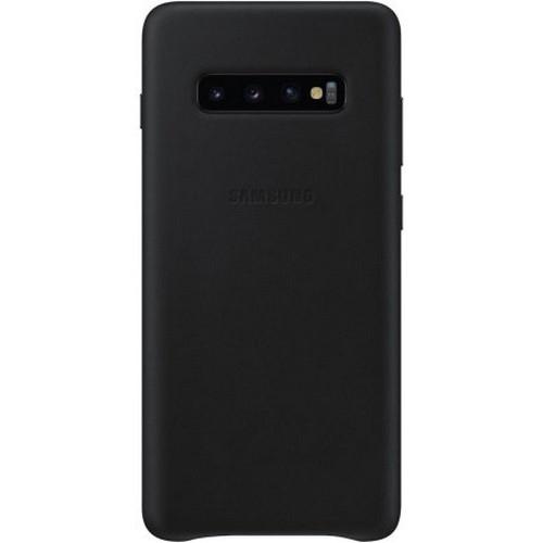 Samsung Official Leather Cover Samsung Galaxy S10 Plus - Black (EF-VG975LBEGWW)