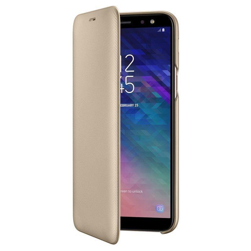 Samsung Official Wallet Case Samsung Galaxy A6 2018 - Gold (EF-WA600CFEGWW)