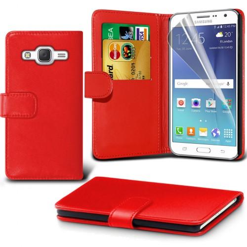 Θήκη - Πορτοφόλι Samsung Galaxy J7 (2016) Κόκκινο - OEM (10664)