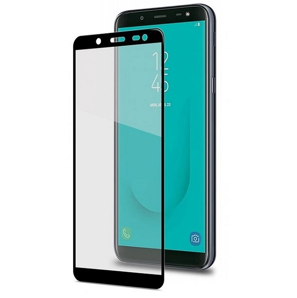 Celly Tempered Glass - Fullface Αντιχαρακτικό Γυαλί Οθόνης Samsung Galaxy J6 2018- Black (FULLGLASS758BK)