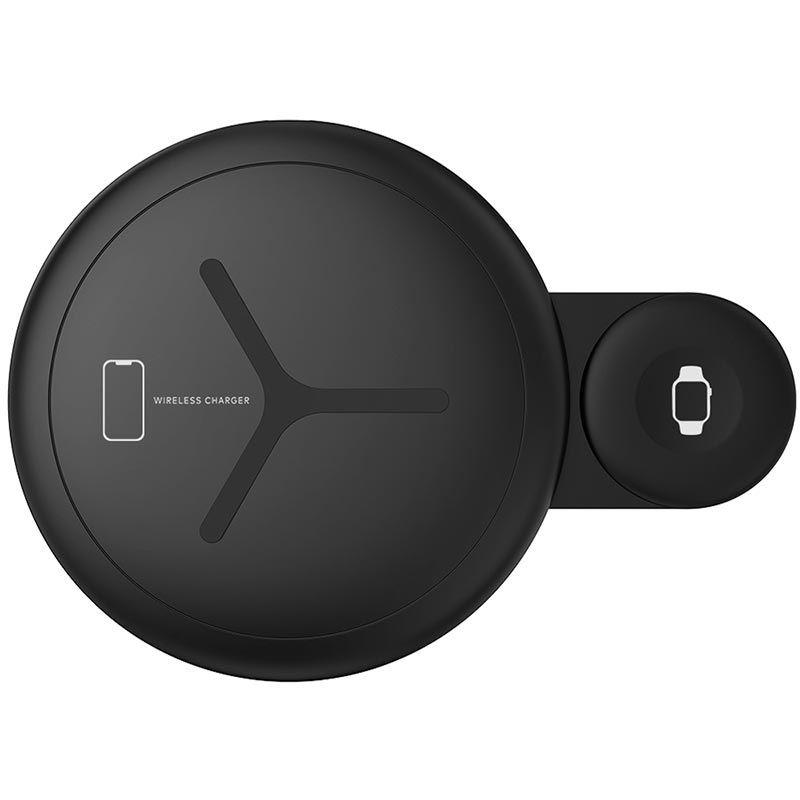 Sdesign Dual Wireless Charging Pad - Διπλός Ασύρματος Φορτιστής - Black (SDUAL-BK)