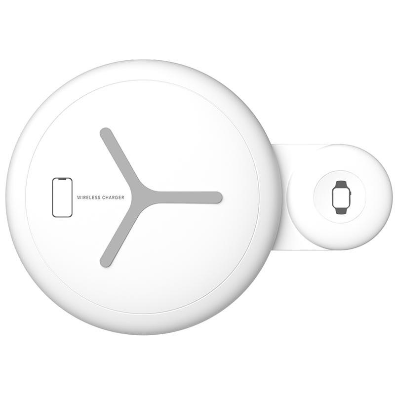Sdesign Dual Wireless Charging Pad - Διπλός Ασύρματος Φορτιστής - White (SDUAL-WH)
