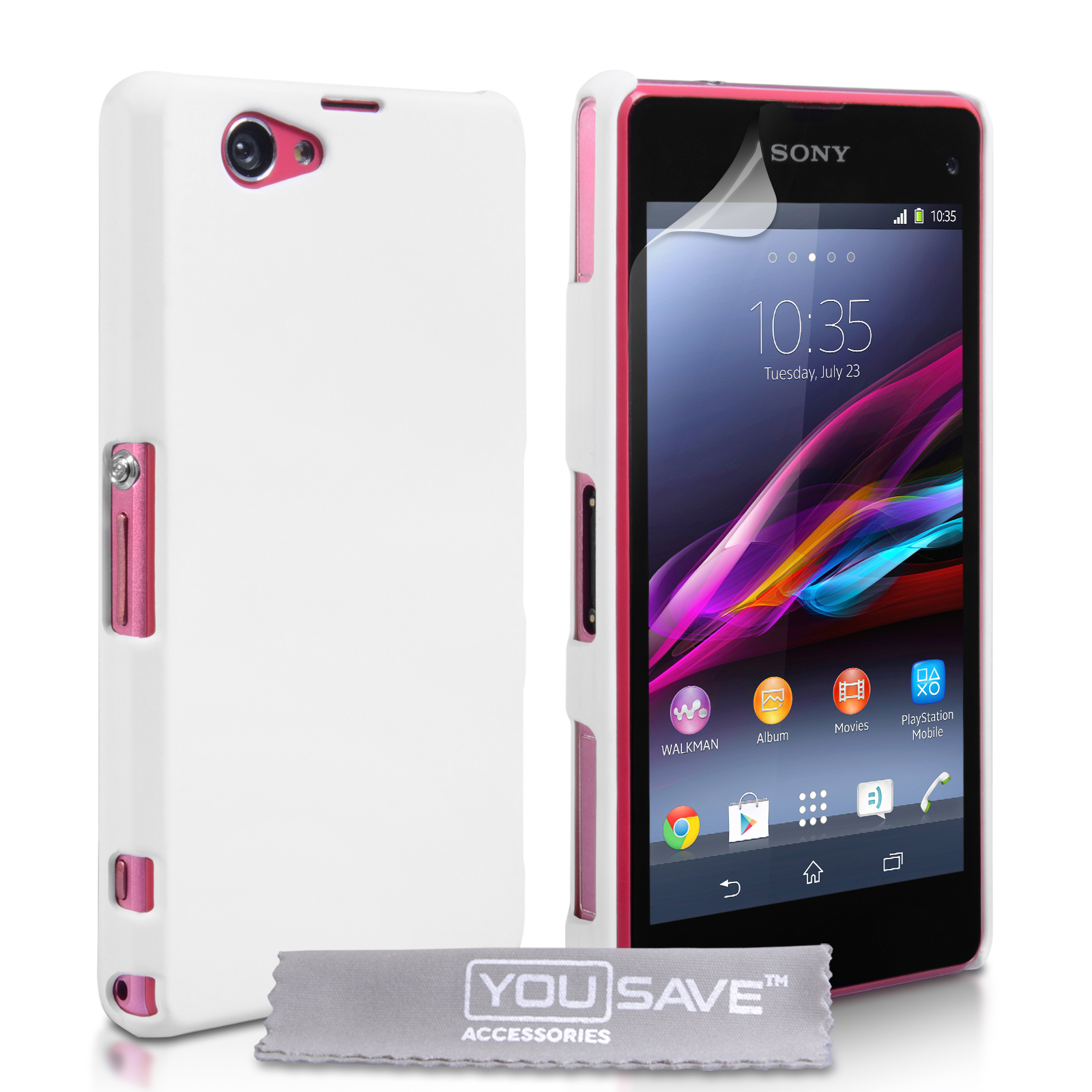 YouSave Πλαστική Θήκη Sony Xperia Z1 Compact  - Λευκό (Z934)