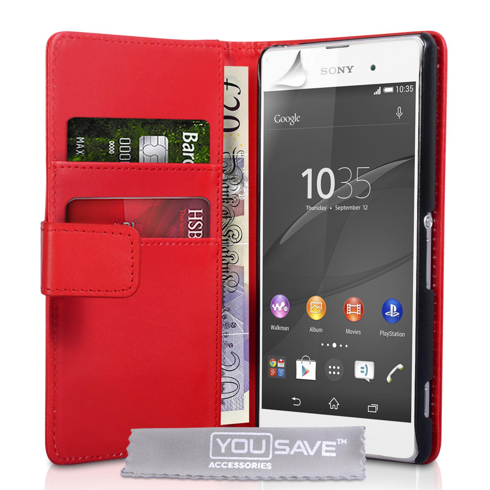 YouSave Θήκη - Πορτοφόλι Sony Xperia Z3+/Z4 - Red (SE-HA03-Z090)