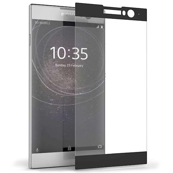 Caseflex Tempered Glass - Αντιχαρακτικό with Black Edge Γυαλί Οθόνης Sony Xperia XA2  (SE-HA07-Z629)
