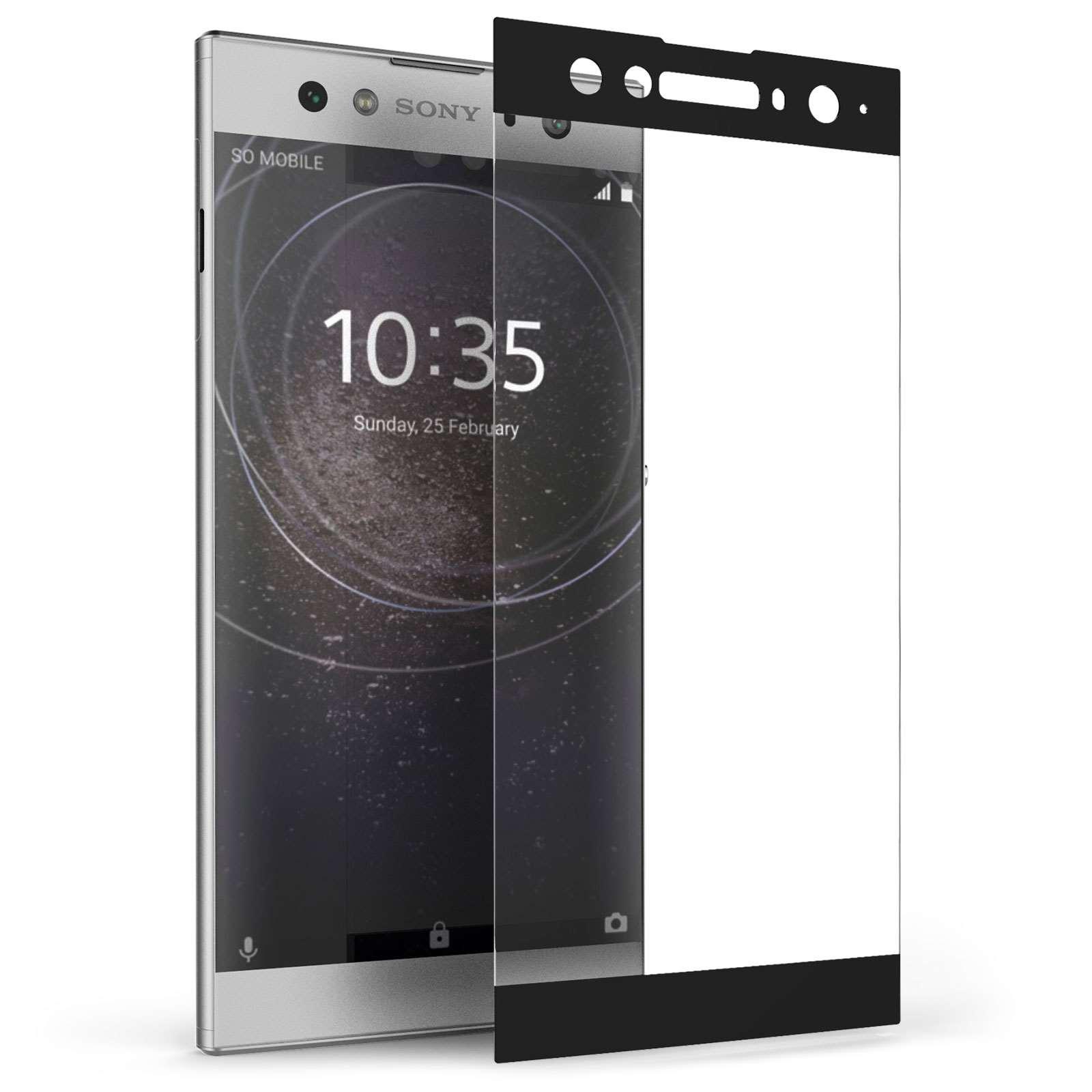 Caseflex Tempered Glass - Αντιχαρακτικό with Black Edge Γυαλί Οθόνης Sony Xperia XA2 Ultra  (SE-HA07-Z640)