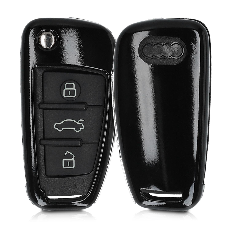 KW Σκληρή Θήκη Κλειδιού Audi - 3 Κουμπιά - Black Matte (47863.47)