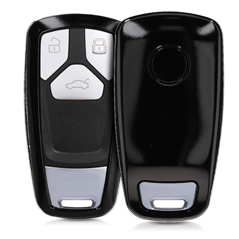 KW Σκληρή Θήκη Κλειδιού Audi - 3 Κουμπιά - Black Matte (47874.47)