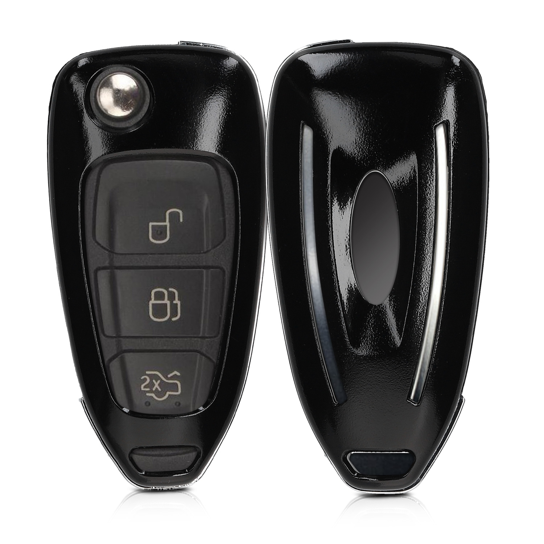 KW Σκληρή Θήκη Κλειδιού Ford - 3 Κουμπιά - Black Matte (47862.47)