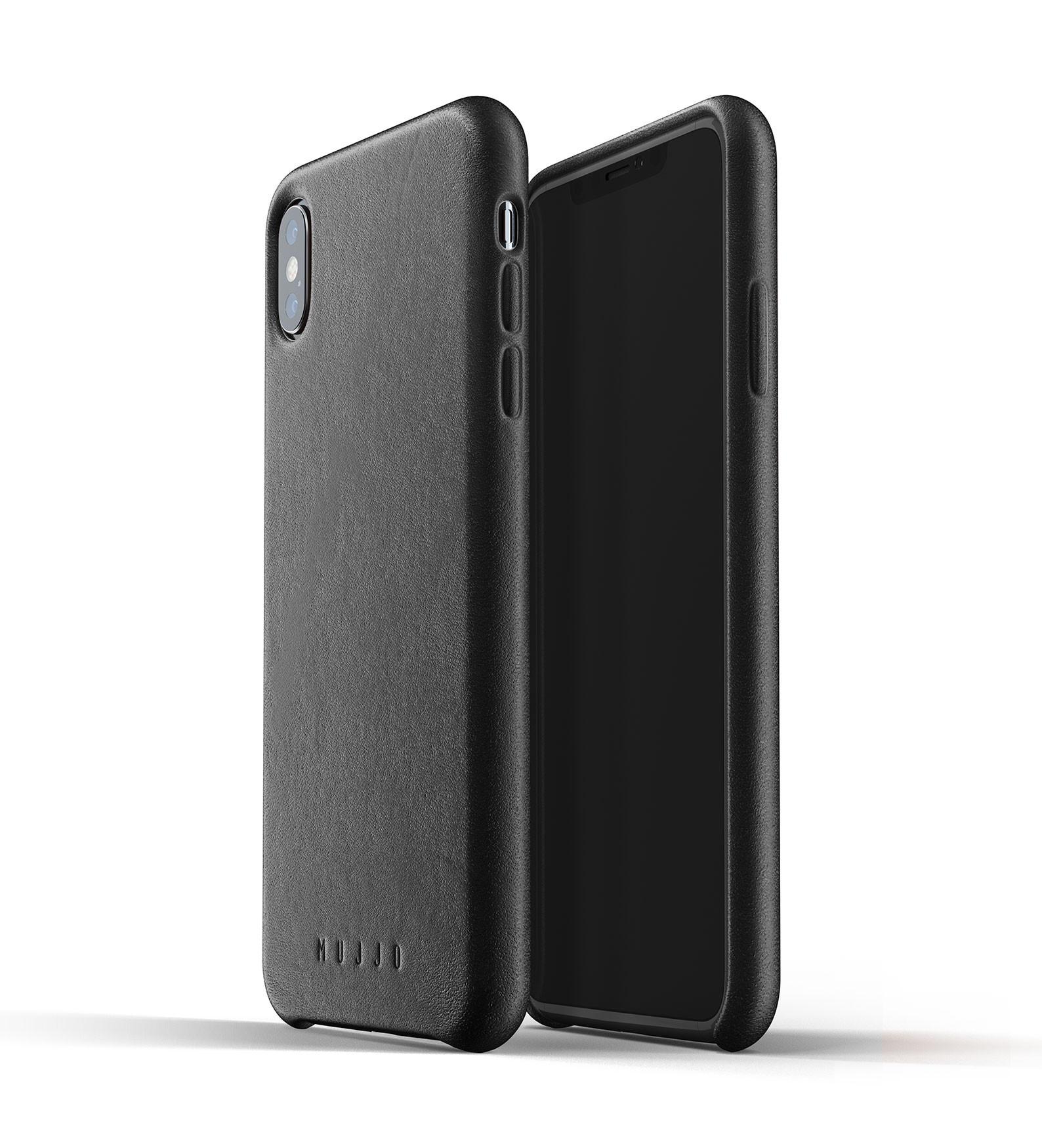 MUJJO Full Leather Case - Δερμάτινη Θήκη iPhone XS Max - Black (MUJJO-CS-103-BK)