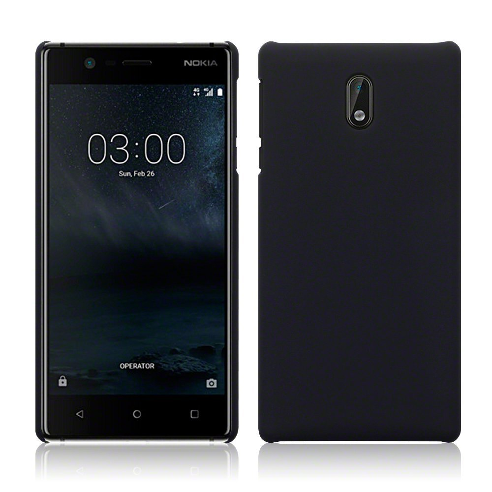 Terrapin Σκληρή Θήκη Καουτσούκ Nokia 3 - Black (151-001-063)