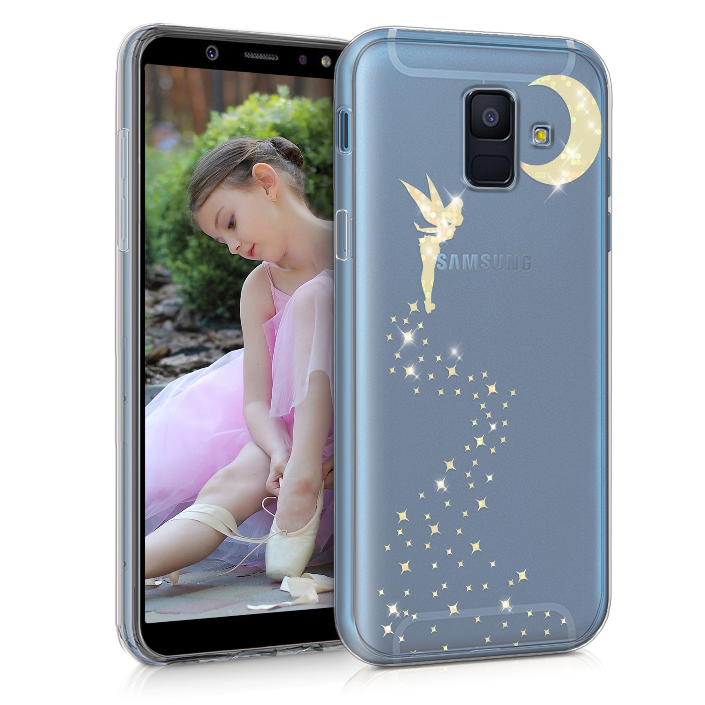 KW Διάφανη Σκληρή Θήκη Samsung Galaxy A6 2018 - Gold Fairy Glitter (45255.01)