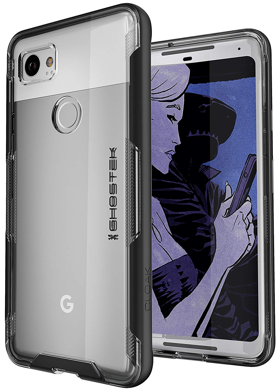 Ghostek Cloak 3 Series Θήκη Google Pixel 2 XL - Clear / Black (CA-GHOCAS722-00)