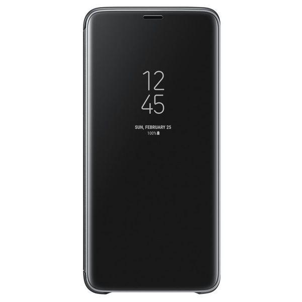 Samsung Official Clear View Standing Cover - Θήκη Flip με Ενεργό Πορτάκι Samsung Galaxy S9 Plus - Black (EF-ZG965CBEGWW)