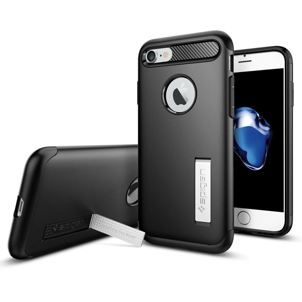 Spigen Θήκη Slim Armor for iPhone 7 - Black (042CS20647)
