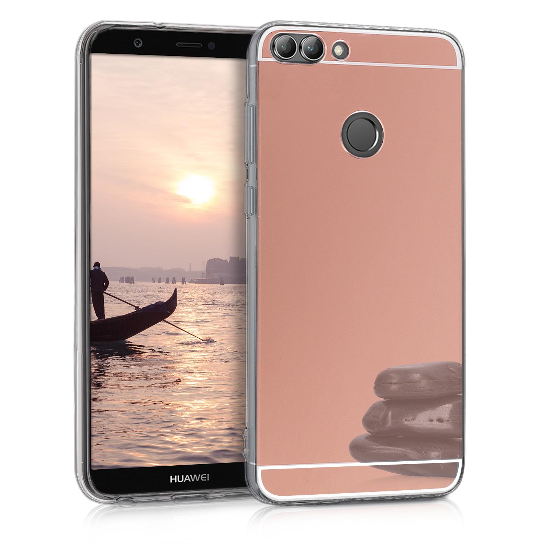KW Θήκη Σιλικόνης με Καθρέφτη Huawei P Smart 2018 - Rose Gold (44435.81)