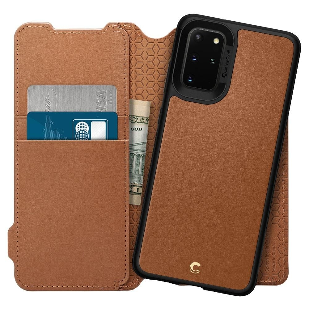 Spigen Θήκη Ciel Wallet Brick Samsung Galaxy S20 Plus - Brown (ACS00774)