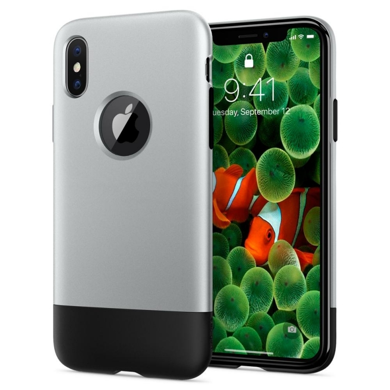 Spigen Θήκη Classic One - 10th Anniversary Limited Edition - iPhone X / XS - Aluminum Gray (057CS23345)