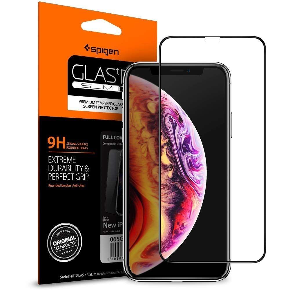 Spigen Premium Tempered Glass - Fullface Αντιχαρακτικό Γυάλινο Screen Protector iPhone 11 Pro Max / XS Max (065GL25232)