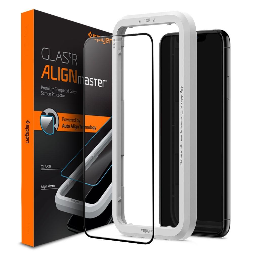 Spigen GLAS.tR ALIGNmaster - Αντιχαρακτικό Fullface Γυάλινο Screen Protector iPhone 11 (AGL00106)