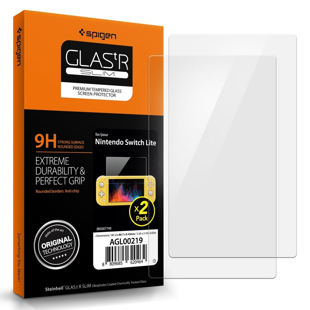 Spigen Premium Tempered Glass GLAS.tR Slim Nintendo Switch Lite - 2 τεμάχια (AGL00219)