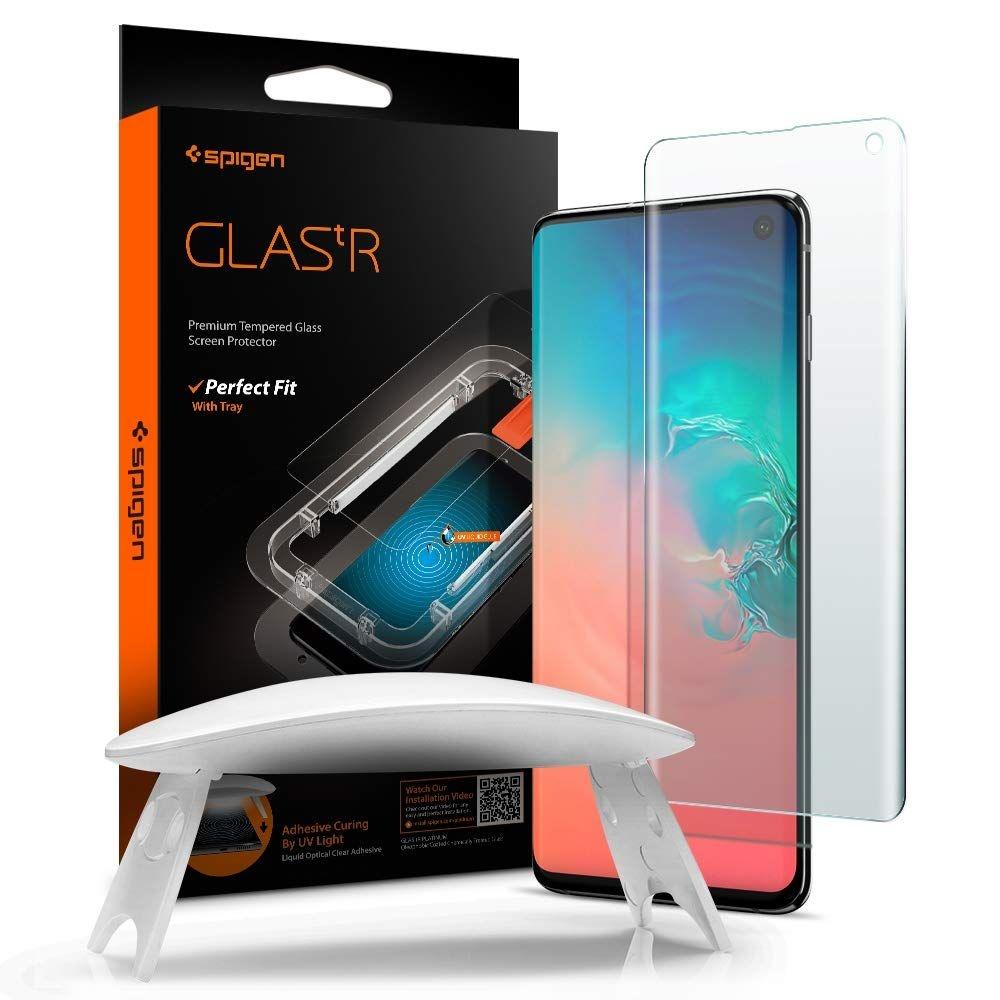 Spigen GLAS.tR Platinum Premium Tempered Glass - Σύστημα Προστασίας Οθόνης Samsung Galaxy S10 (605GL27615)