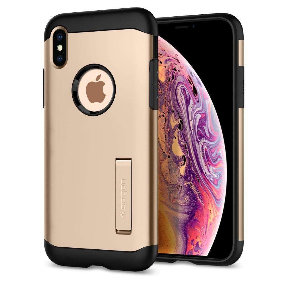 Spigen Θήκη Slim Armor iPhone XS Max - Champagne Gold (065CS25154)