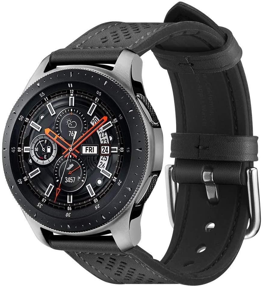 Spigen Retro Fit Δερμάτινο Λουράκι Samsung Galaxy 46mm /  Huawei Watch GT 2 46mm / Honor MagicWatch 46mm - Black (603MP26445)