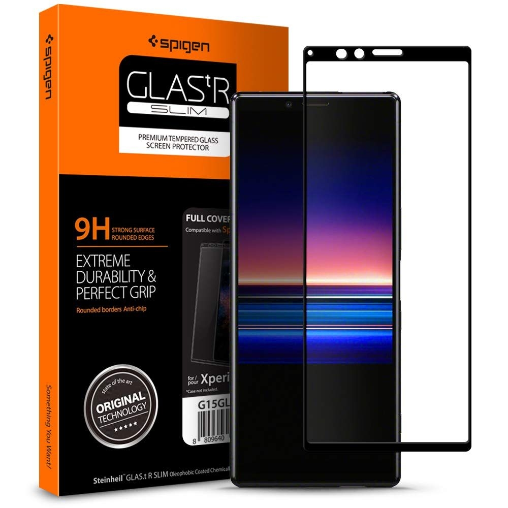 Spigen Premium Tempered Glass - Αντιχαρακτικό Γυάλινο Screen Protector Sony Xperia 1 - Full Cover (G15GL26324)