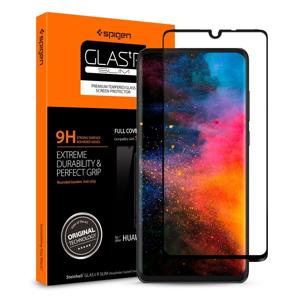 Spigen Premium Tempered Glass - Αντιχαρακτικό Γυάλινο Screen Protector Huawei P30 - Full Cover (L38GL26018)