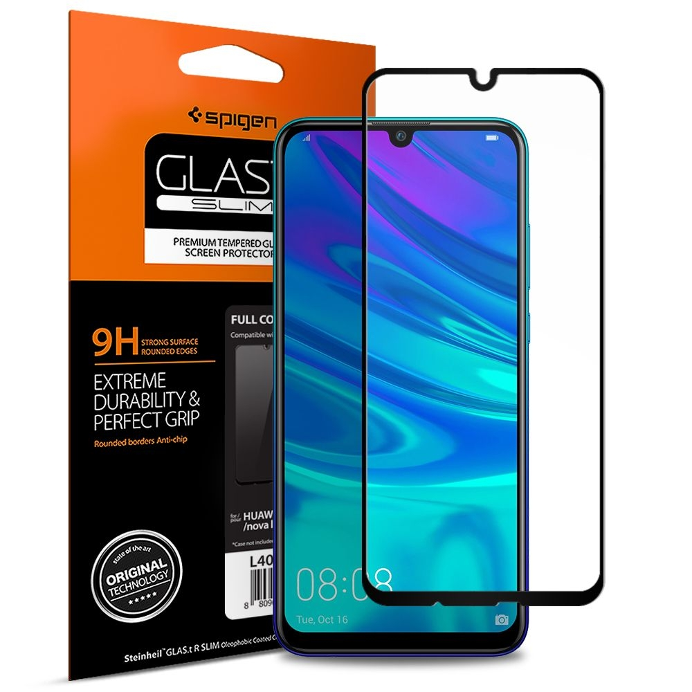 Spigen Premium Tempered Glass - Αντιχαρακτικό Γυάλινο Screen Protector Huawei P Smart 2019 / Honor 10 Lite - Full Cover (L40GL26096)