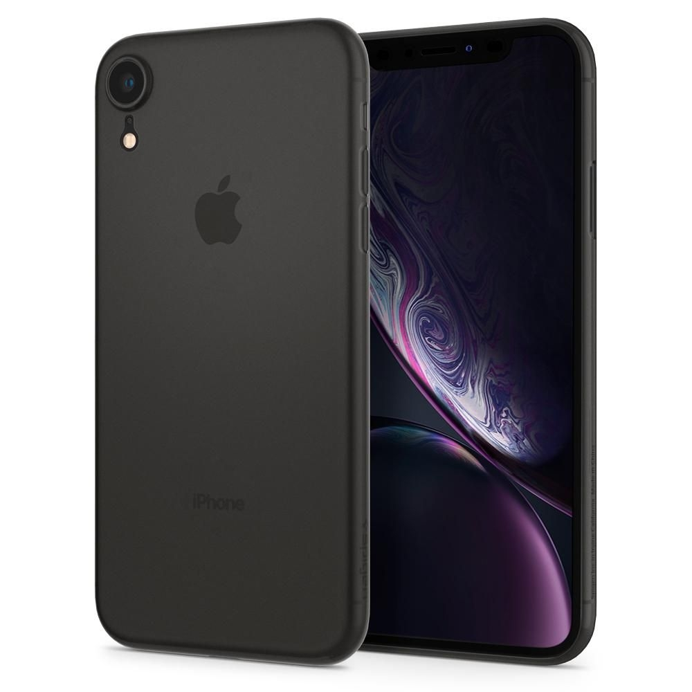 Spigen Θήκη Air Skin iPhone XR - Black (064CS24870)