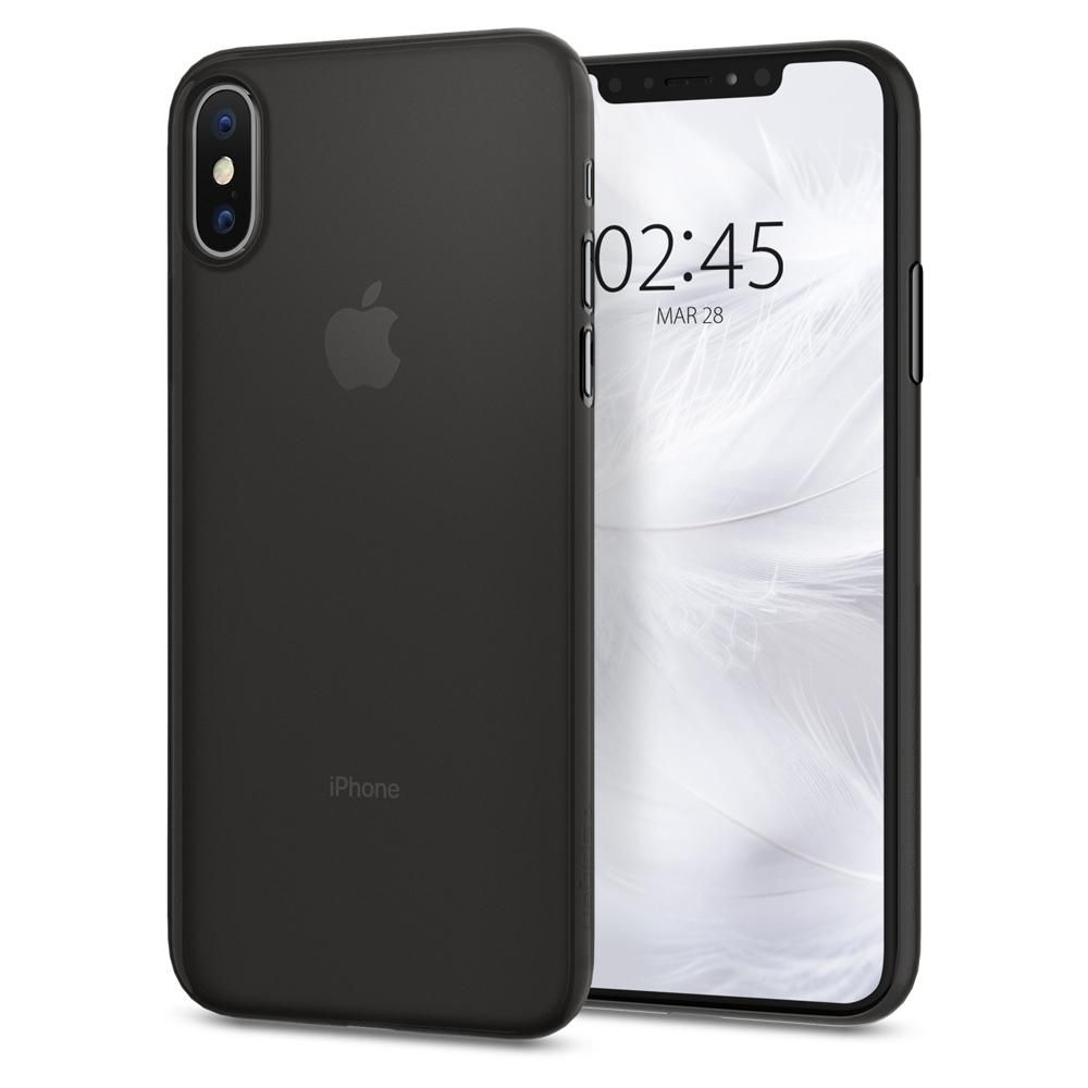 Spigen Θήκη Air Skin iPhone XS/X - Black (063CS24910)