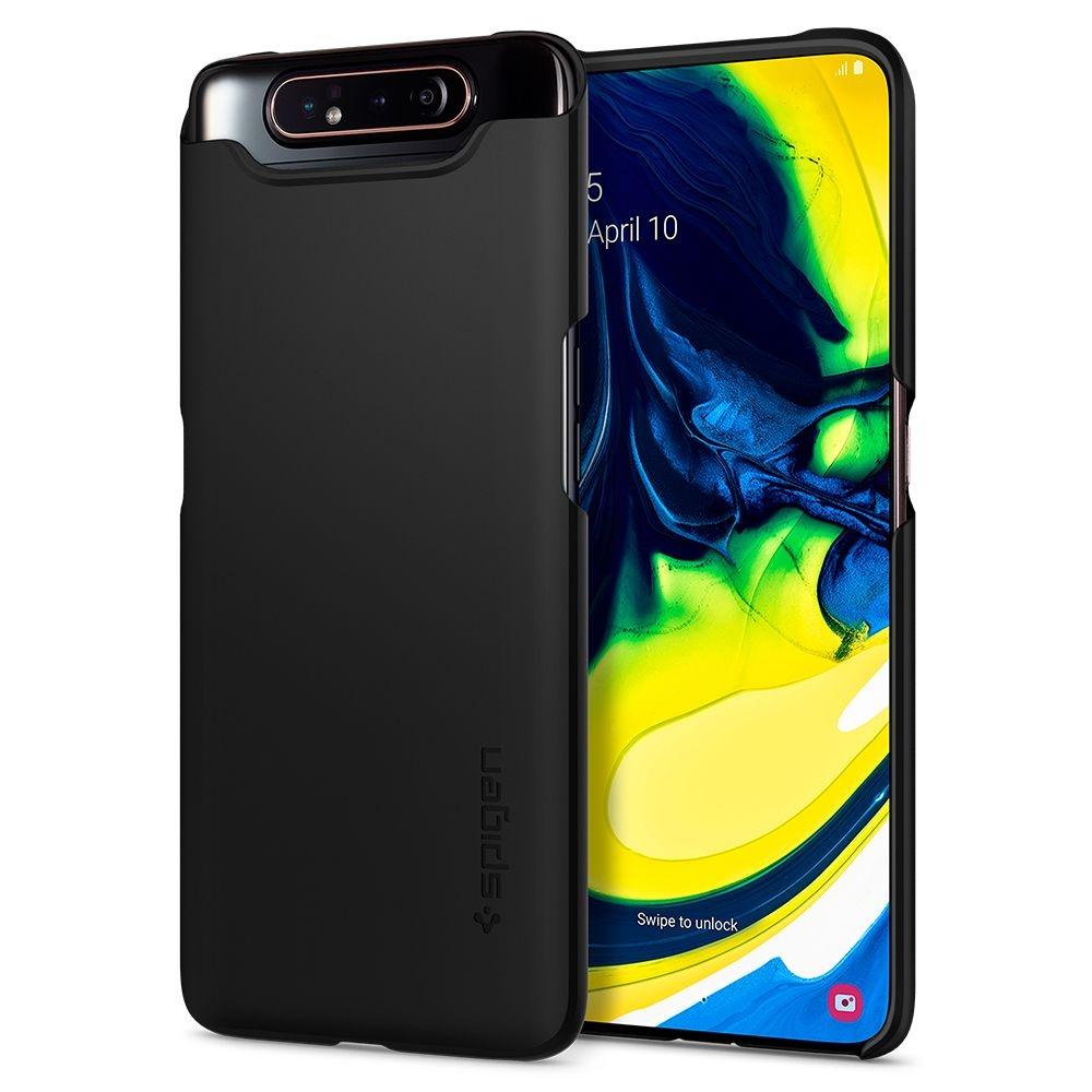 Spigen Θήκη Thin Fit Samsung Galaxy A80 - Black (621CS26417)