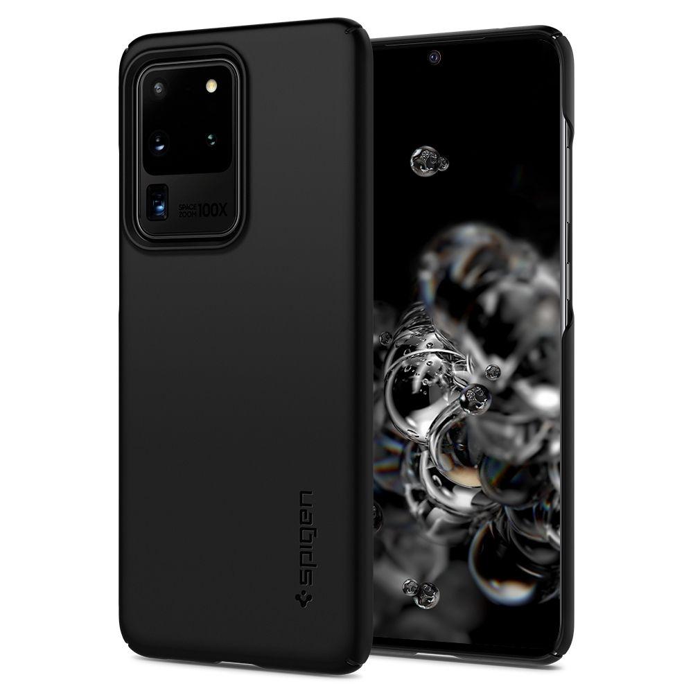 Spigen Θήκη Thin Fit Samsung Galaxy S20 Ultra - Black (ACS00708)